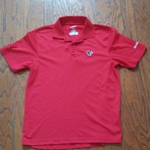 Reebok Red Texan Polo Shirt Size S
